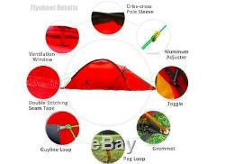 Light 2 Man Two Person Camping Tent Waterproof Dome Hoop Survival Mountaineering
