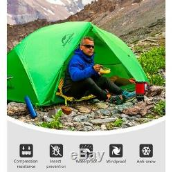 Light Single One Man 1 Person Waterproof Hiking Tent Winter Snow Camping Shelter