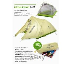 Light Waterproof 2 Person Two Man Hiking Tent Trekking Camping Dome 3 Season 1