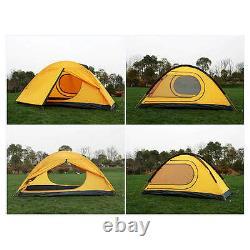 Lightweight 1 Man Tent Backpacking Tent Camping 3 Season YELLOW 1.85kg