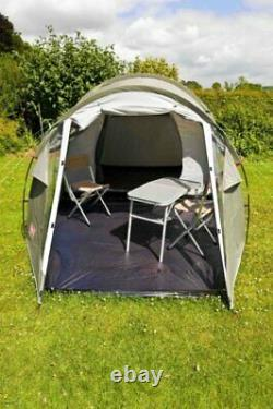 Lightweight 3 Plus 3 Man Camping Tent Green/Grey Waterproof & Easy to Pitch