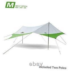 Lightweight Camping Tarp Shelter Beach Tent Sun Shade Awning Canopy with Tarp