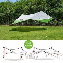 Lightweight Camping Tarp Shelter Beach Tent Sun Shade Awning Canopy with Tarp P