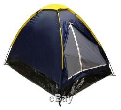 Lot of 2 BLUE DOME CAMPING TENTS 7x5' Two Man 2 Person NAVY ORANGE Sealed Floor