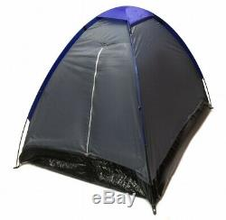 Lot of 4 GRAY DOME CAMPING TENTS 7x5' Two Man GRAPHITE BLUE Sealed Bottom