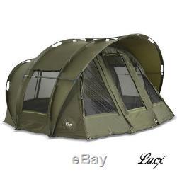Lucx Bivvy 2 & 3 Man Fishing Tent Carp Tent Leopard Carp Dome Tent Camping