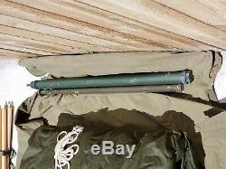 MILITARY SURPLUS 5 MAN M1950 ARCTIC TENT 13x13 CAMPING ARMY LINER Extras
