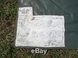 MILITARY SURPLUS 5 MAN M1950 ARCTIC TENT 13x13 CAMPING ARMY+LINER M 1950 HUNTING