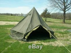 MILITARY SURPLUS 5 MAN M1950 ARCTIC TENT 13x13 CAMPING ARMY+LINER with-out Poles
