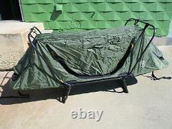 Military Single Man Tent Cot Bivouc Shelter Camp Bed Green Kamp Rite Original