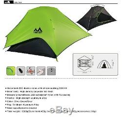 NEW 20D Double Layer Two Men 2 Person Backpacking Family Camping Tent 3 Season