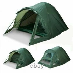 NGT 2 Man Double Skin Carp Fishing Bivvy Tent Shelter With Groundsheet Pegs Camp