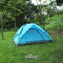 New 3-4 Man Automatic Instant Pop-Up Camping Tent Double Layer Hiking Travelling