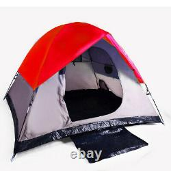 New 3 Man Outdoor Hiking Camping Tent with Carrying Bag Red