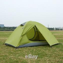 New Double Layer Outdoor Tents 2-3 Person/Man Camping Cabin Family Touring Tent
