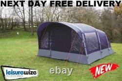 New Leisurewize Olympus 6 Berth Tent Six Man AIR Inflatable Tent Family Camping