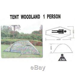 One Man Flecktarn Recon Tent Camo Military Army Camping Hiking Backpacking New