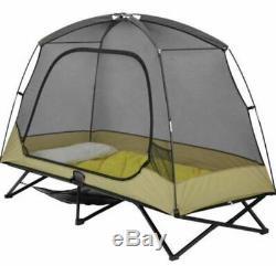 One Man Tent Cot For Camping 1 Person Shelter Canopy Camp Elevated Padded Mesh