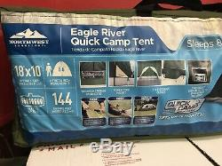 Outdoor Camping & Hiking Sleeps 8 Men Territory Eagle River 18' x 10' Tent