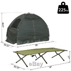 Single 1 Man One Person Cot Raised Off Ground Camping Tent