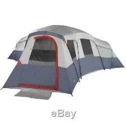 Ozark Trail 20-Person 4-Room Cabin Tent with 4 Separate Entrances for Camping