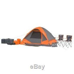 Ozark Trail 22-Piece Camping Combo 4 Man Tent 2 Sleeping Bags 2 Chairs Lantern