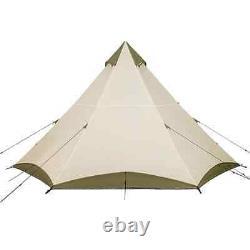 Ozark Trail 8 Man / Person Teepee Tent Khaki Camping Wigwam Family Festival NEW