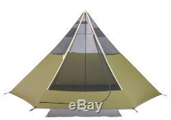 Ozark Trail Khaki 8 Man Teepee Tent Waterproof Camping Beach Festival Glamping