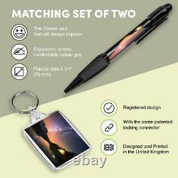 Pen & Keyring (Rectangle) Mountain Camping Tent Milky Way #21309
