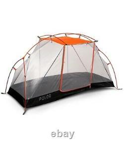Poler OUTDOOR STUFF Camping 2 Man Tent Orange BARELY USED