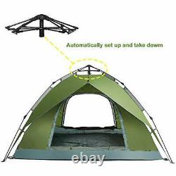 Pop Up Tent 3 4 Man Person Camping Tent Waterproof Instant Automatic