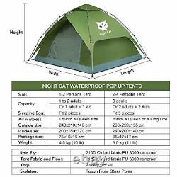 Pop Up Tent 3 4 Man Person Camping Waterproof Tent Automatic
