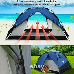 Pop Up Tent Instant Tent Camping Tents for 2 3 4 Person People Man Waterproof Ea