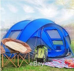 Pop up tent for 3-4 man, waterproof camping, hiking and festival tent. 4 seasons