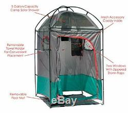 Portable Shower Privacy Shelter Rack Tent Large Camp Outdoor with Carrier