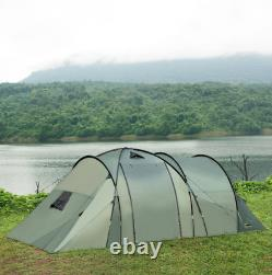 Premium 5 Man Camping Tent Family Friends Outdoor Shelter with Rainfly 3 Rooms New