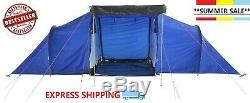 ProAction 6 Man 2 Room Tent Waterproof Camping Family Hiking SALE
