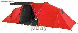 ProAction 6 Man 3 Room Tunnel Camping Tent Fishing Sports