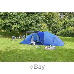 ProAction 6 Person Man 2 Room Tunnel Camping Family Hiking Tent Porch Waterproof