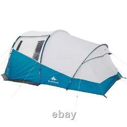 QUECHUA Arpenaz 4.1 FRESH & BLACK Family Camping Tent 4 Man Berth Person