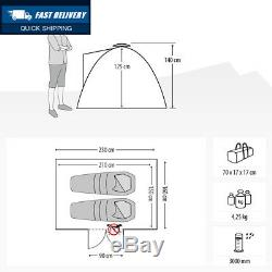 Qeedo Quick Ash 2 Seconds Tent Man Camping (Quick Up System)