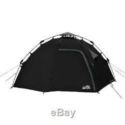 Qeedo Quick Maple 4 man Camping Dome Tent Black