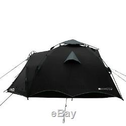 Qeedo Quick Oak 3 Man Camping Tent (Quick Up System) Black
