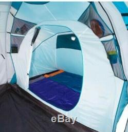 Quecha 4.2 Tent Four Man Two Sleeping Sections Large Living Area. Camping