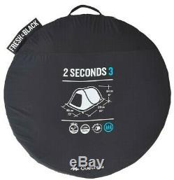 Quechua 2 Seconds Easy III FRESH & BLACK 3 Man Waterproof Pop Up Camping Tent
