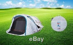 Quechua 2 Seconds XL AIR II FRESH & BLACK 2 Man Waterproof Pop Up Camping Tent