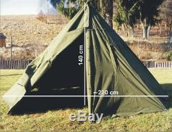 SIZE 2 Polish Army 2 Man Canvas Teepee Tent Lavvu Rain Poncho festival camping