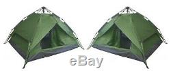 Set of 2 Instant Automatic Pop Up Tents Backpacking Camping Hiking 4 Man