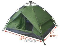 Set of 4 Instant Automatic Pop Up Tents Backpacking Camping Hiking 4 Man