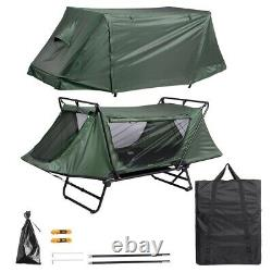 Single 1 Man One Person Cot Raised Off Ground Camping Tent Waterproof Shelter